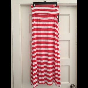 Stripe Maxi Skirt S